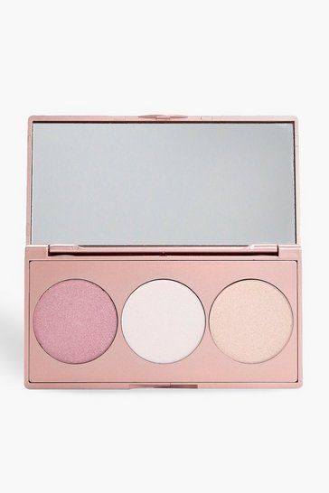 Womens Multi Boohoo 3 Shade Highlighter Palette