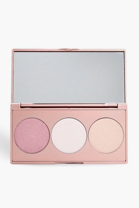Palette 3 tonalità highlighter boohoo, Multi, Femmina