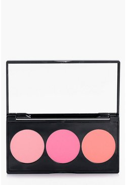 Womens Multi Boohoo 3 Shade Blusher Palette
