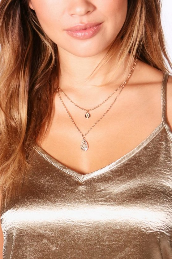 Jodie Layered Pendant Chain Necklace