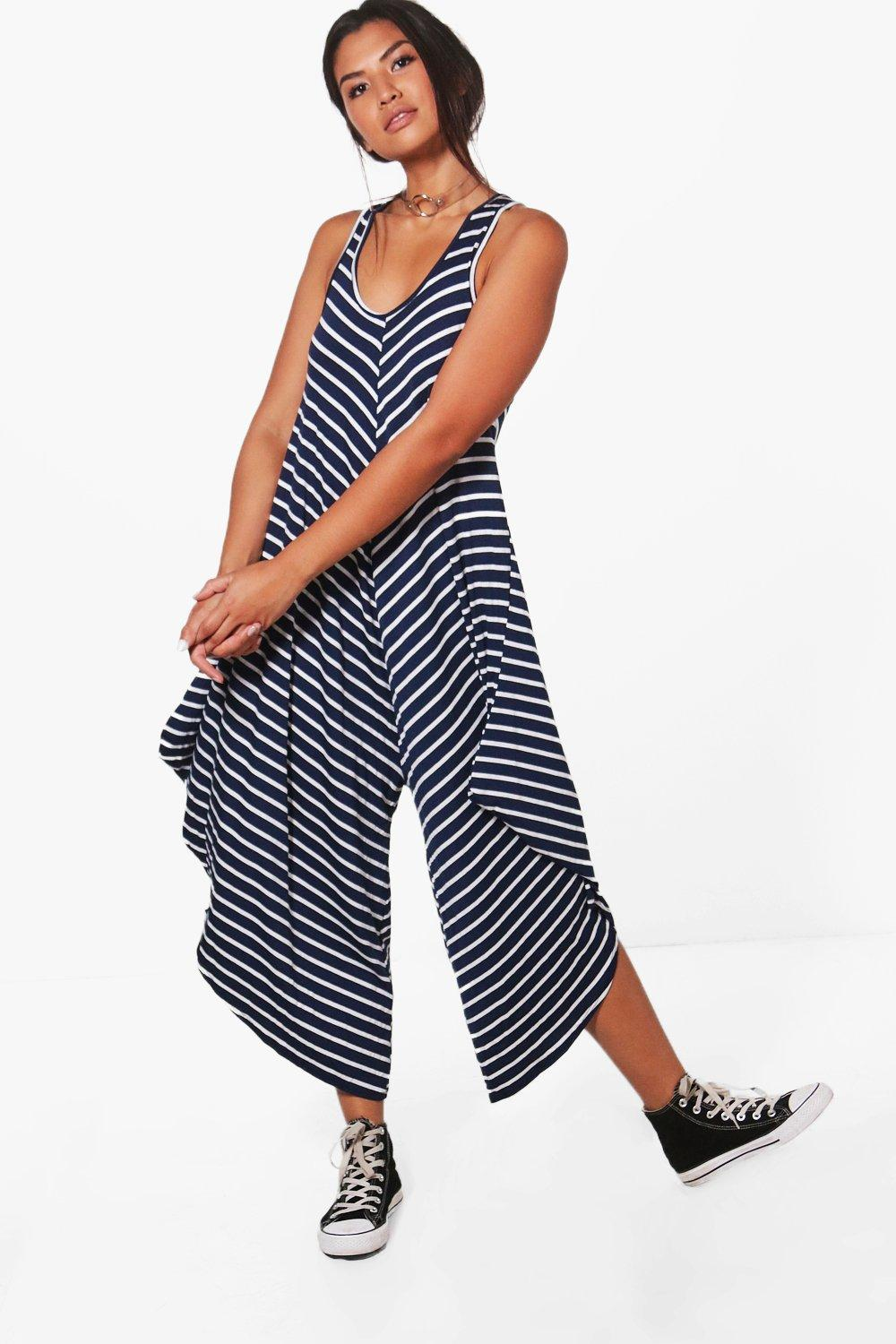 7a24f0907f3d Womens Lola Striped Harem Jumpsuit. Hover to zoom