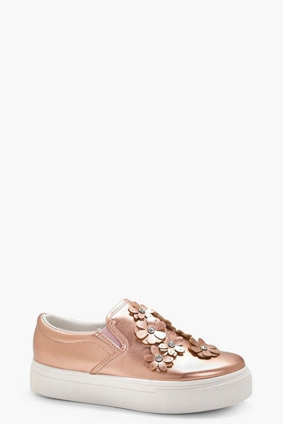 Millie Flower Embellished Skater