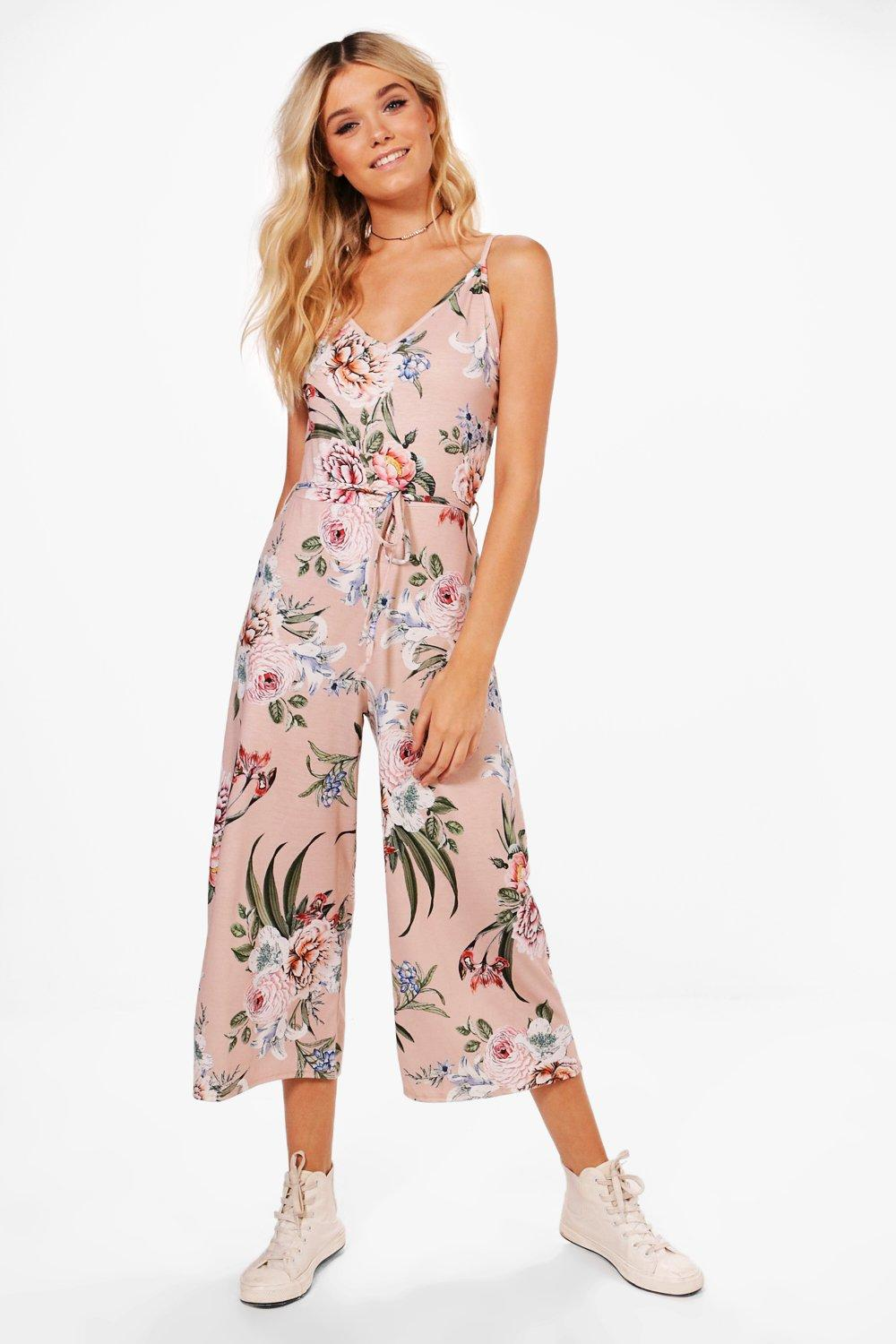8581eb90277 Hetty Floral Print Culotte Jumpsuit. Hover to zoom