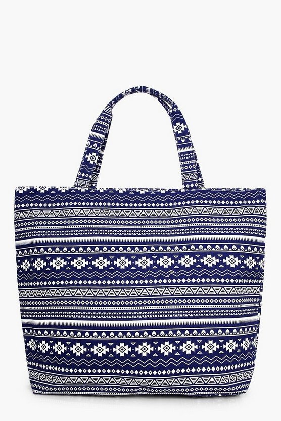 Ellie Blue Aztec Beach Bag