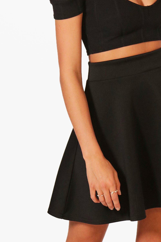3e0680875f99a Boohoo Womens Fit & Flare Highwaist Mini Skirt   eBay
