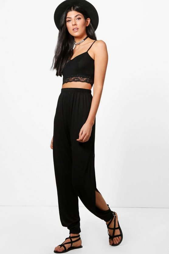 Highwaist Side Split Hareem Trousers