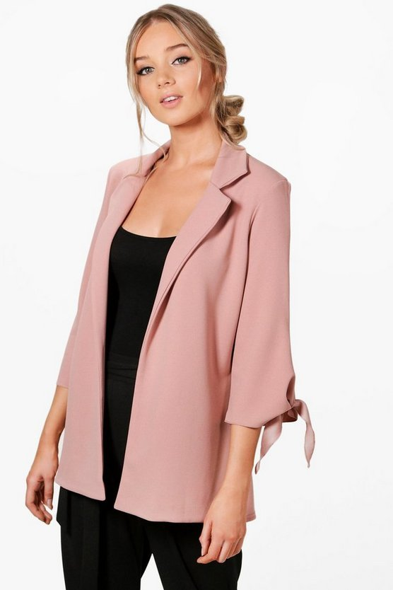 Emma Tie Cuff Tailored Blazer