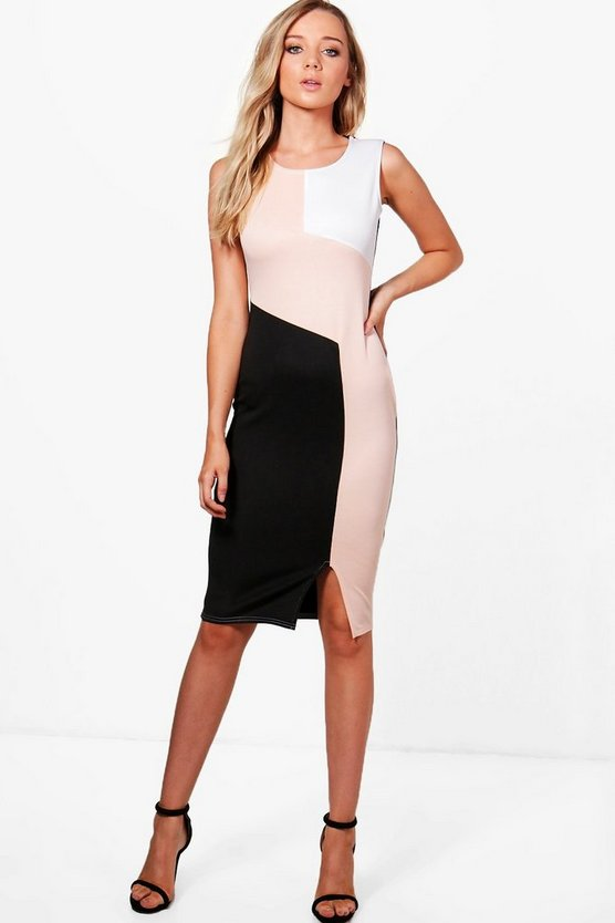 Kerry Colour Block Midi Dress