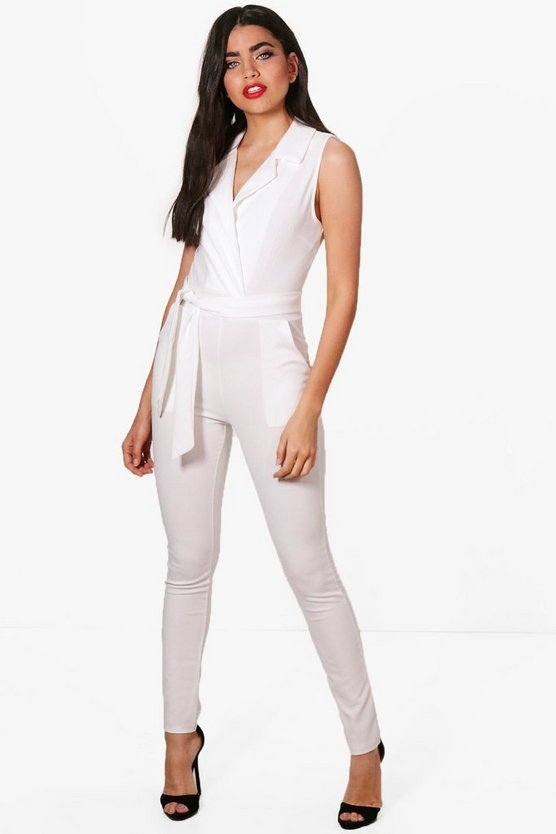 Tailored Sleeveless Jumpsuit