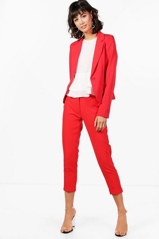 Crop Woven Tailored Trouser