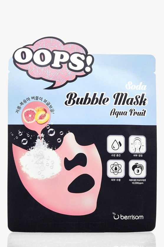 Soda Bubble Deep Cleaning Aqua Fruit Mask