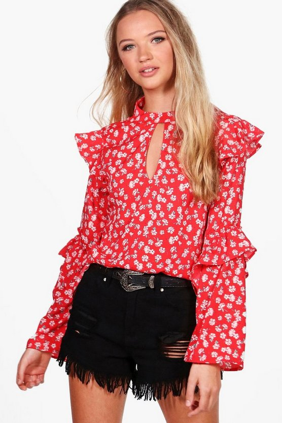 Bella Ditsy Floral Woven Blouse