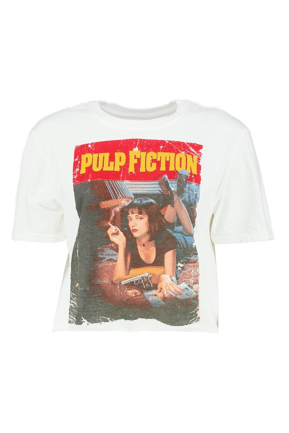 fiction corto Top de Blanco licencia pulp con PZqxrdXnaq