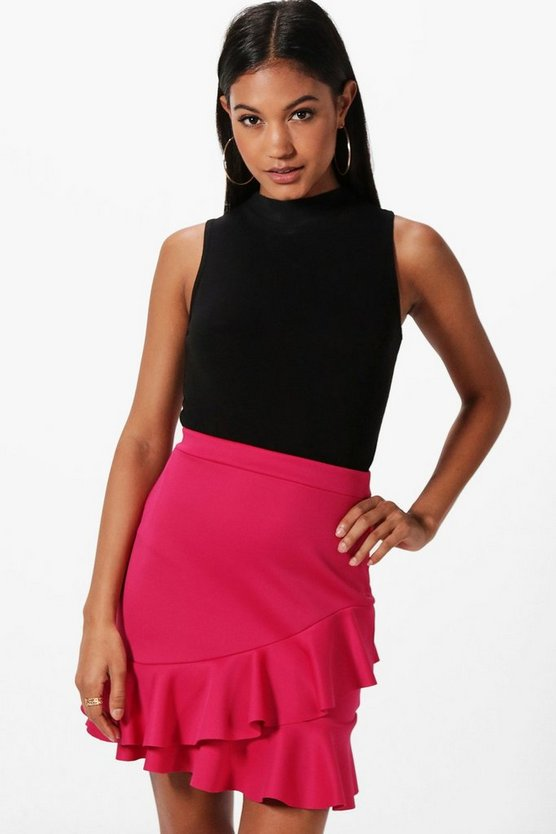 Reece Double Ruffle Mini Skirt