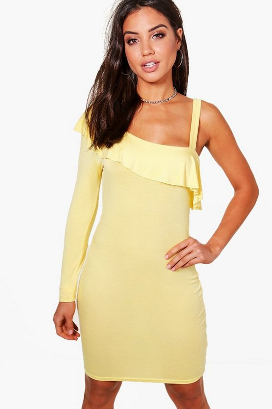 Amy One Shoulder Frill Bodycon Dress