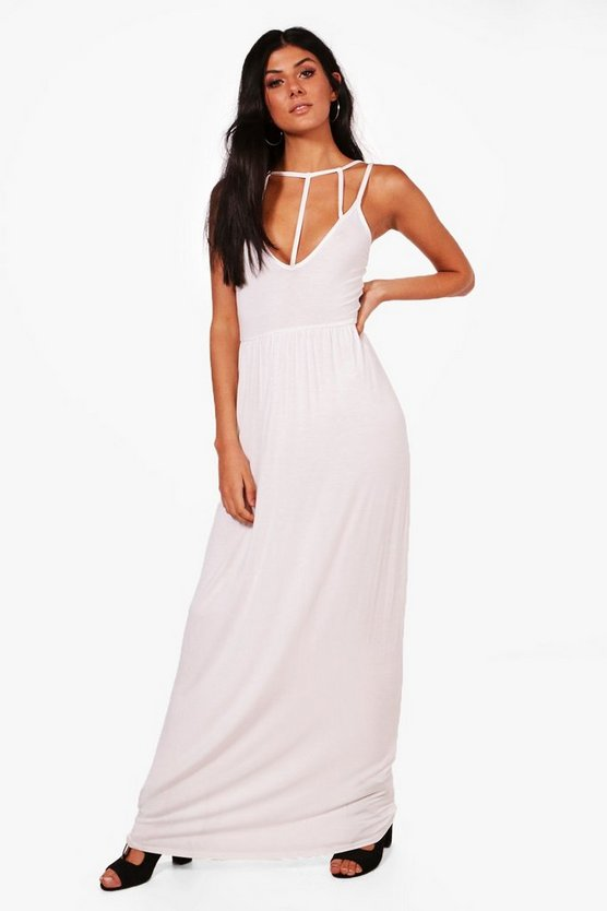 Caged Front Maxi Dress