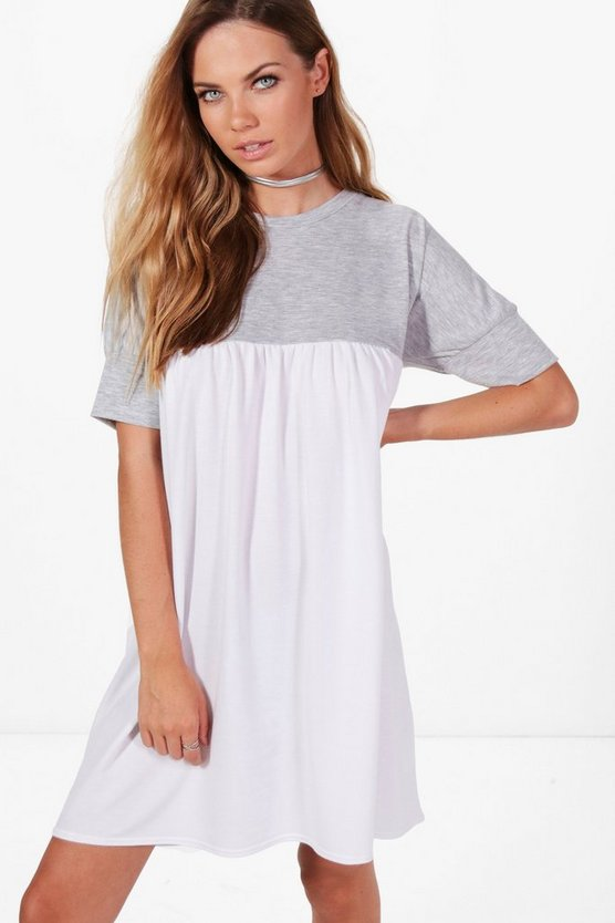 Erin 2 In 1 Smock Style Sweat Dress