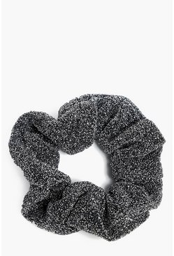 Black Sparkly Glitter Scrunchie