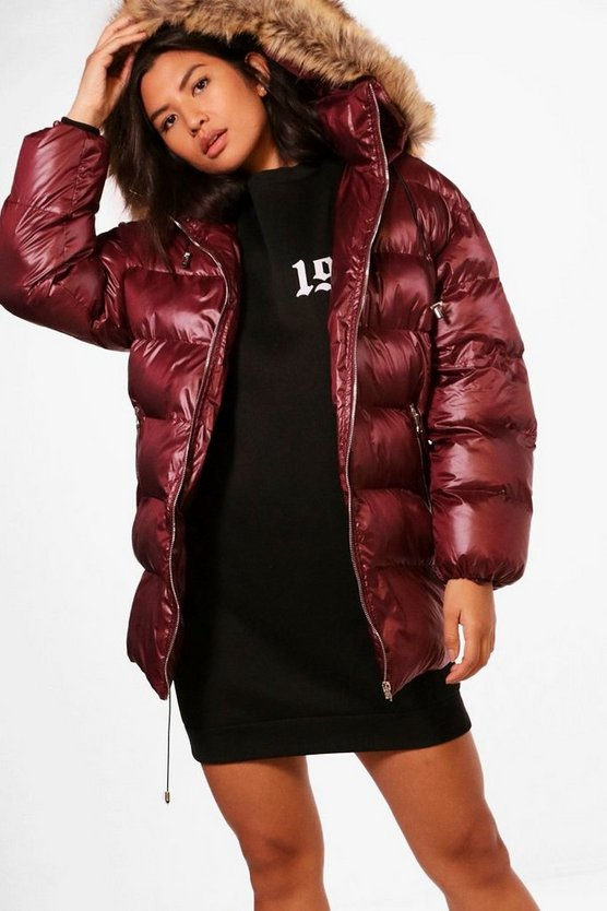 Jane High Shine Longline Padded Coat