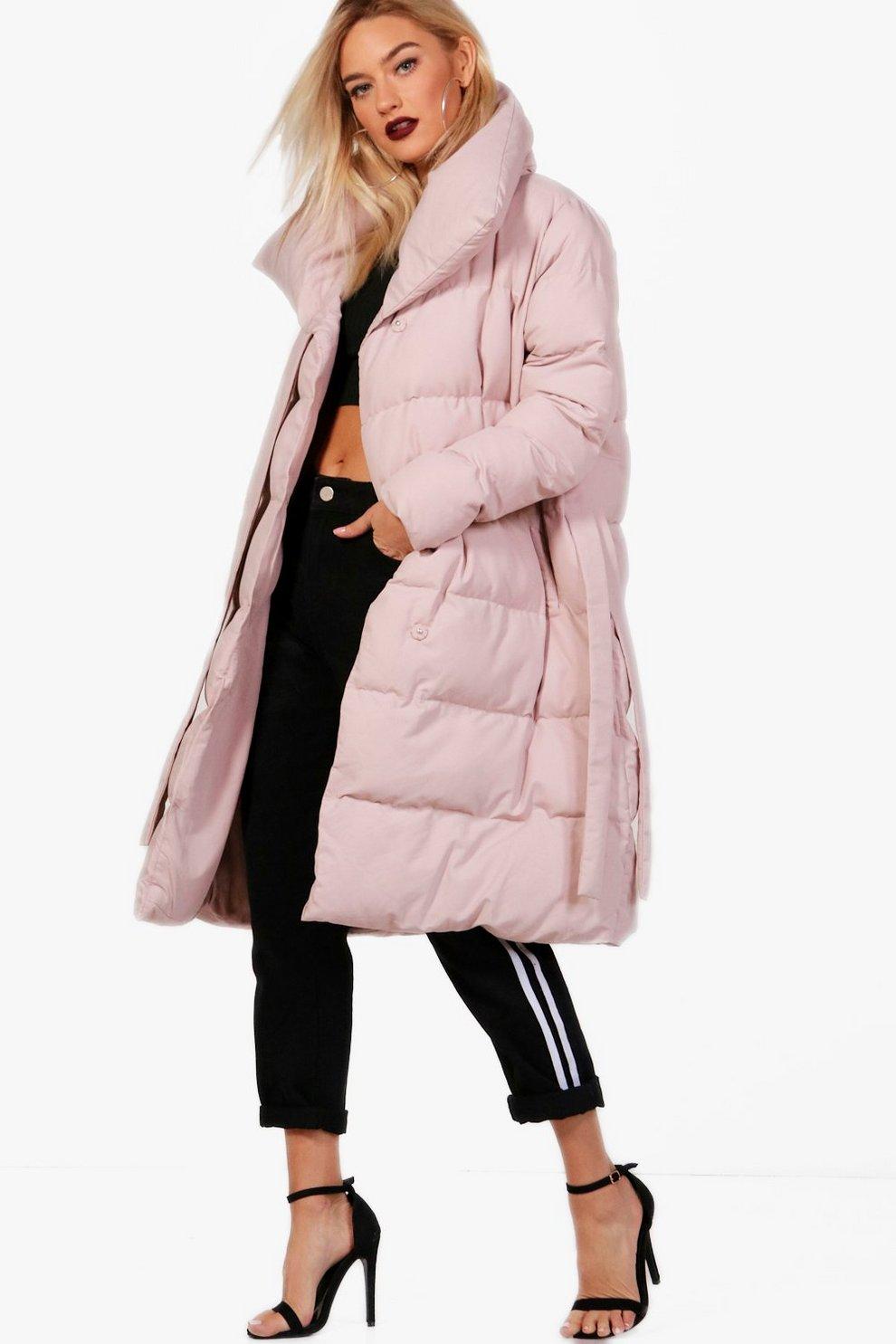 Manteau noir avec col fourrure femme