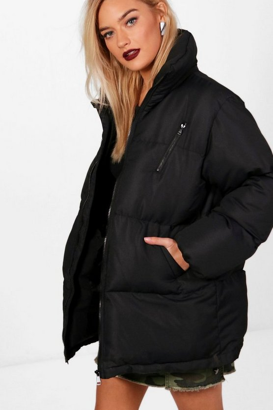 Amelie Funnel Neck Padded Jacket