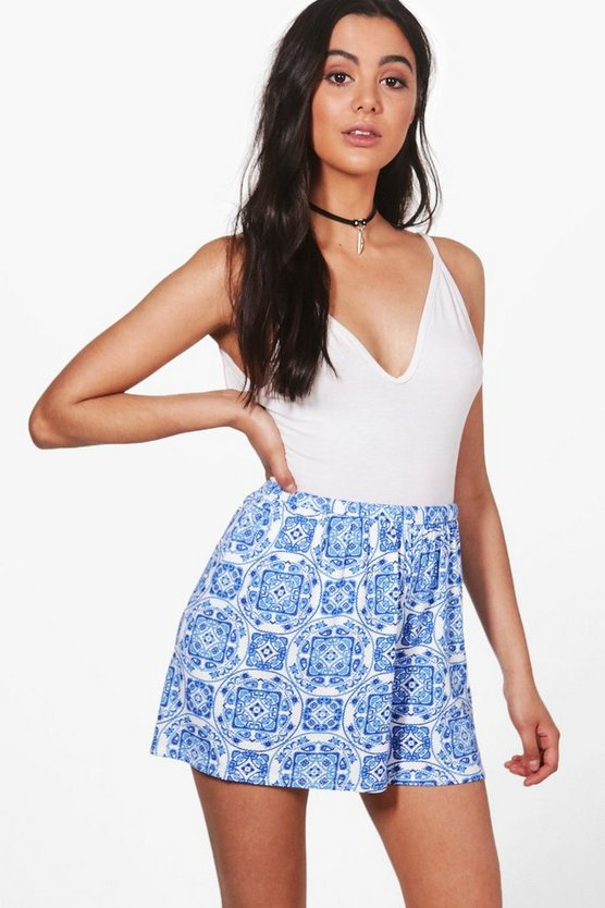 Tile Print Flippy Shorts