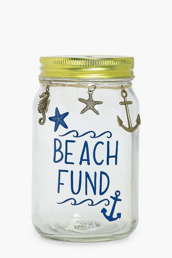 Beach Fund Money Jar