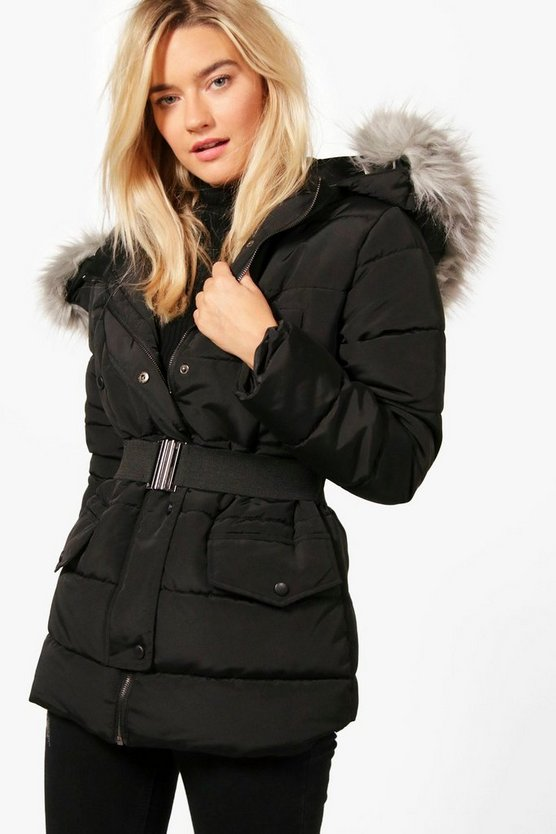 Daisy Belted Padded Jacket