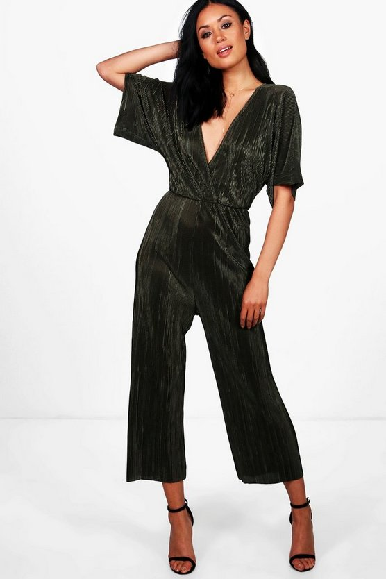 Ashley Plissierter Jumpsuit mit Hosenrock