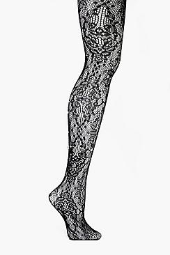 1920s Style Stockings, Tights, Fishnets & Socks Hannah Diamante Patterened Fishnet Tights $22.00 AT vintagedancer.com