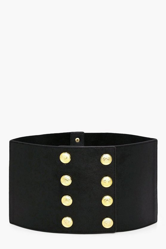 Abigail Military Button Waist Belt