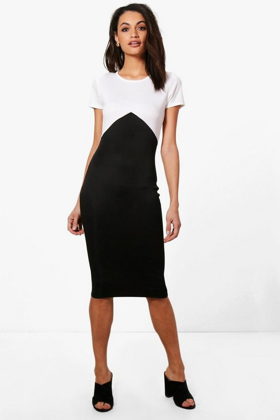 Jasmine Colour Block Midi Dress