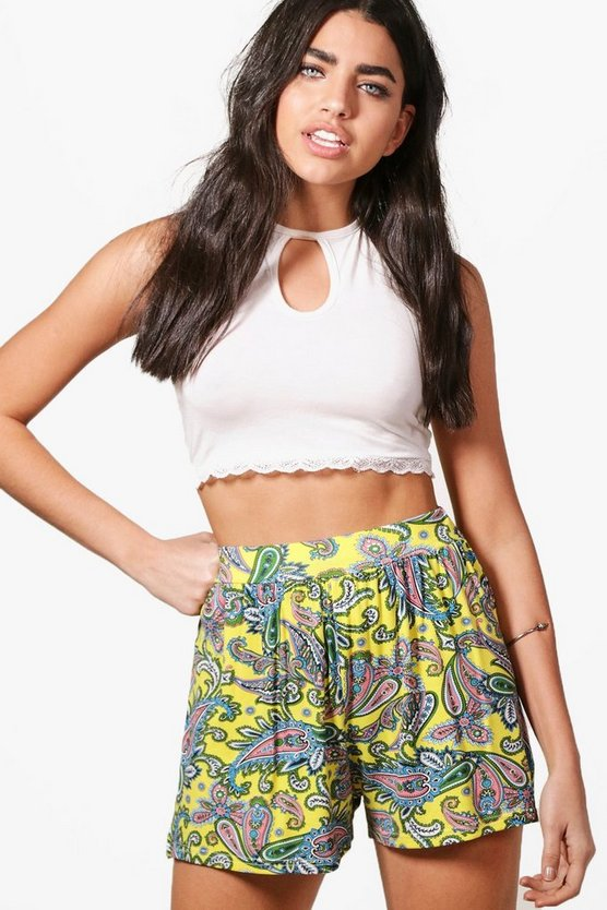 Jeane Floral Hippy Shorts