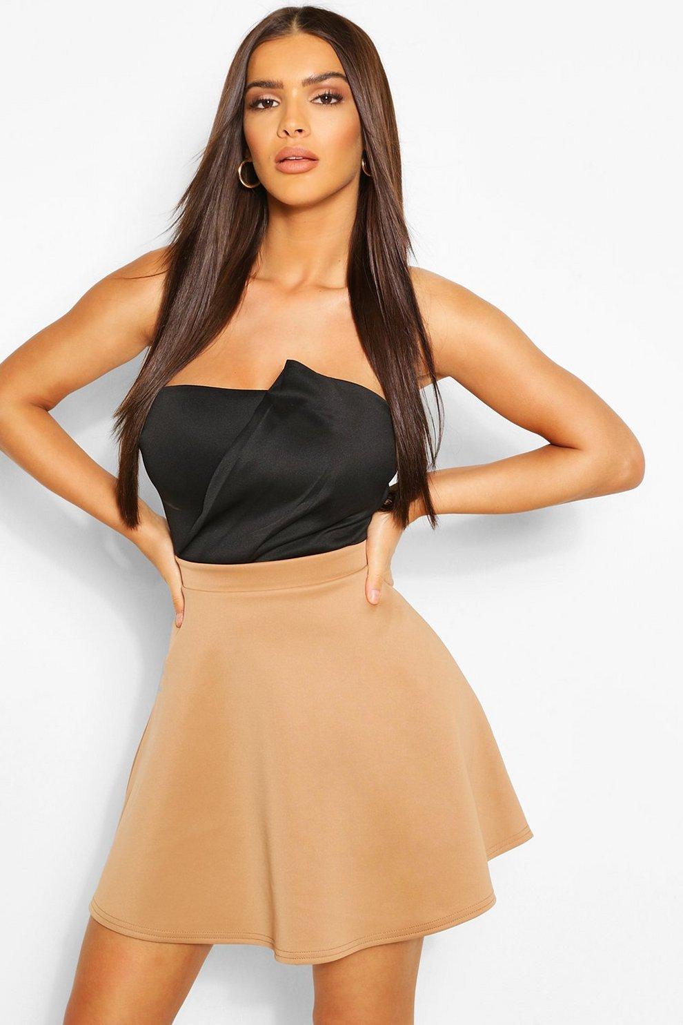 7126636902 Basic Fit And Flare Skater Skirt