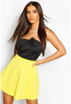 Falda skater Fit And Flare, Yellow