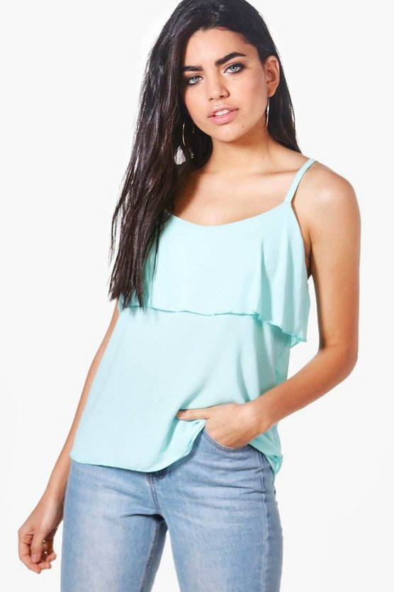 Helen Off The Shoulder Strappy Woven Cami