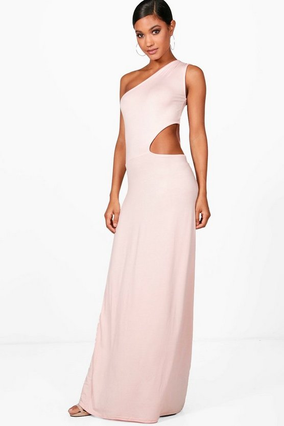One Shoulder Cut Out Maxi Dress