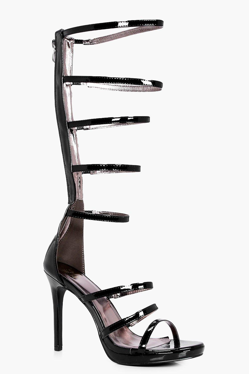 d9e7a4202ca84 Anna Knee High Gladiator Heels. Hover to zoom