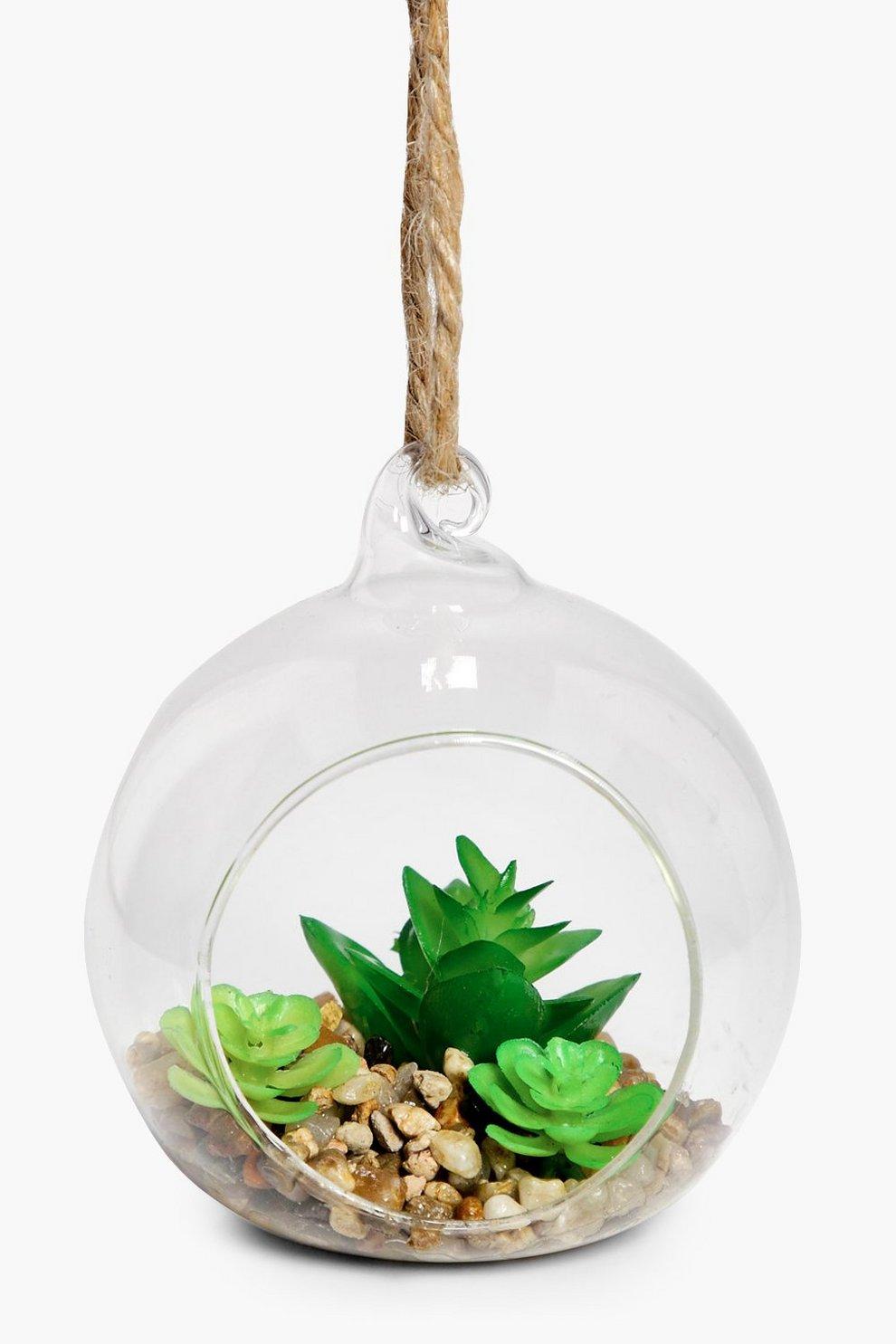 Cactus Hanging Glass Terrarium Boohoo