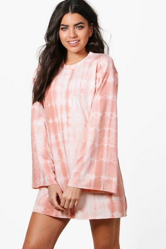 Millie Tie Dye Wide Sleeve Sweat Dress