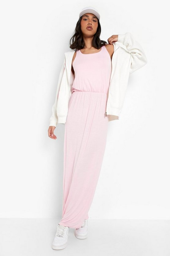 Womens Antique rose Racer Back Maxi Dress