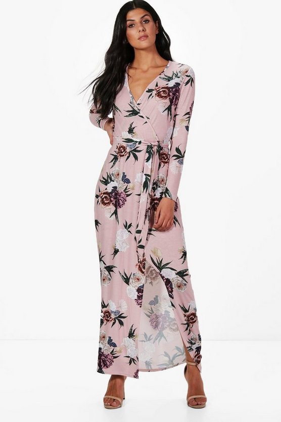 Georgiana Floral Wrap Maxi Dress