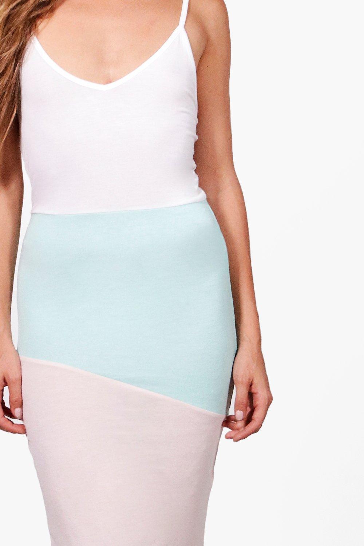 Boohoo-Vestido-Midi-De-Color-Liso-Daisy-para-Mujer