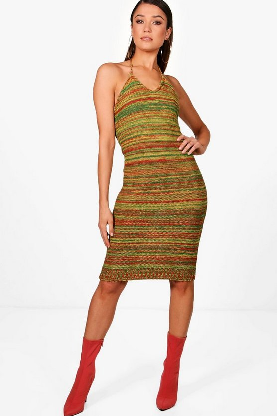 Hannah Mixed Festival Knitted Maxi Dress