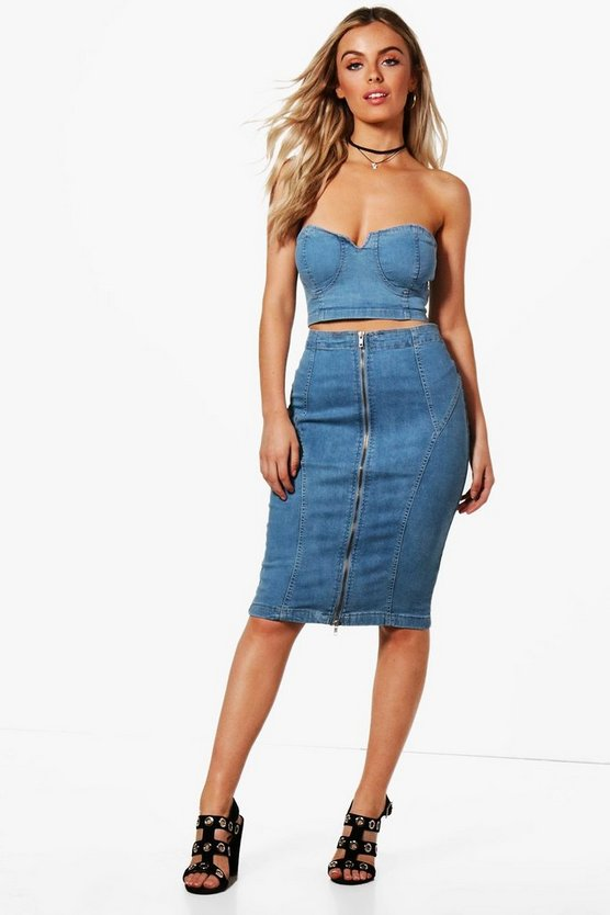 Piper Bodycon Denim Pencil Skirt