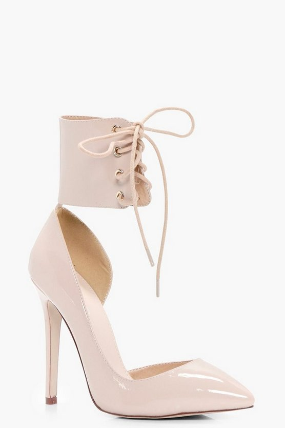 Isobel Lace Up Ankle Band Court Stiletto