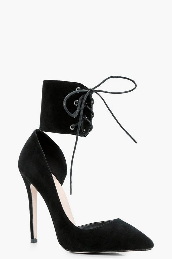 Katie Lace Up Ankle Band Stilletto