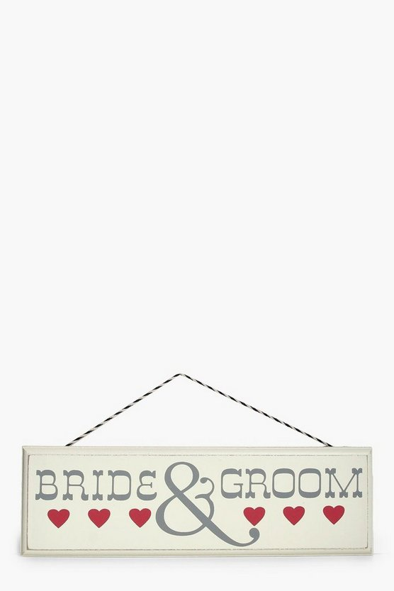 Wedding Bride & Groom Wooden Sign