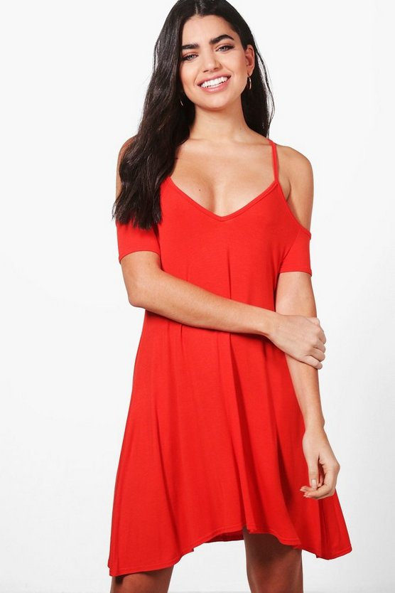 Keira Strappy V Neck Swing Dress