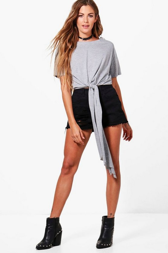 Catherine Oversized Tie Front Top